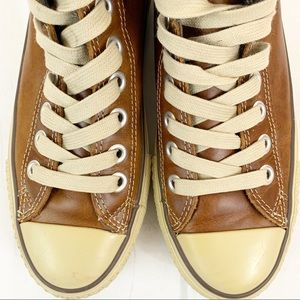 Converse All Stars Brown Leather Basketball Shoes